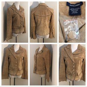 Boston Proper Size 4 NWOT 100% Leather Jacket